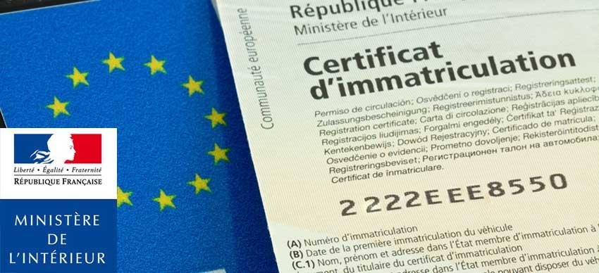 Une Carte Grise Votre Certificat D Immatriculation